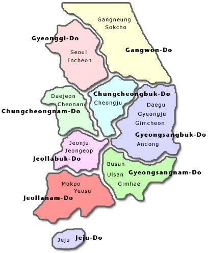 Full Korea Map