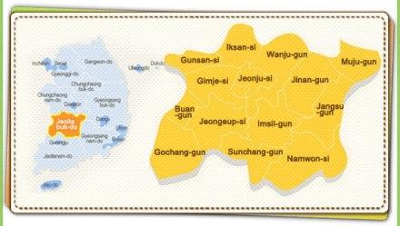 jeollabuk do map